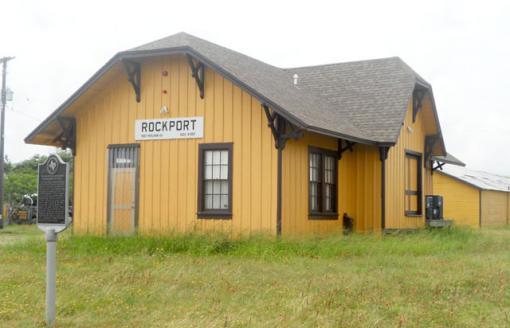 The San Antonio and Aransas Pass Railroad in Rockport